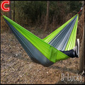 260 (L)*140 (W) 2 Person Outdoor hammock Canvas hammock tourism camping hunting Leisure Fabric Stripes Outdoor hammocks in stock