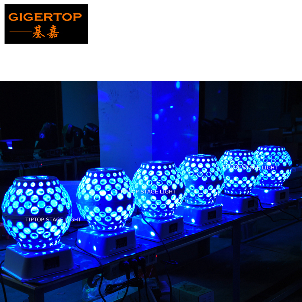 TIPTOP TP-E13 12x3W RGBW Led Rotate Lantern Light Stage Special Effect Light White Color Case LCD Display Truss Ball Light