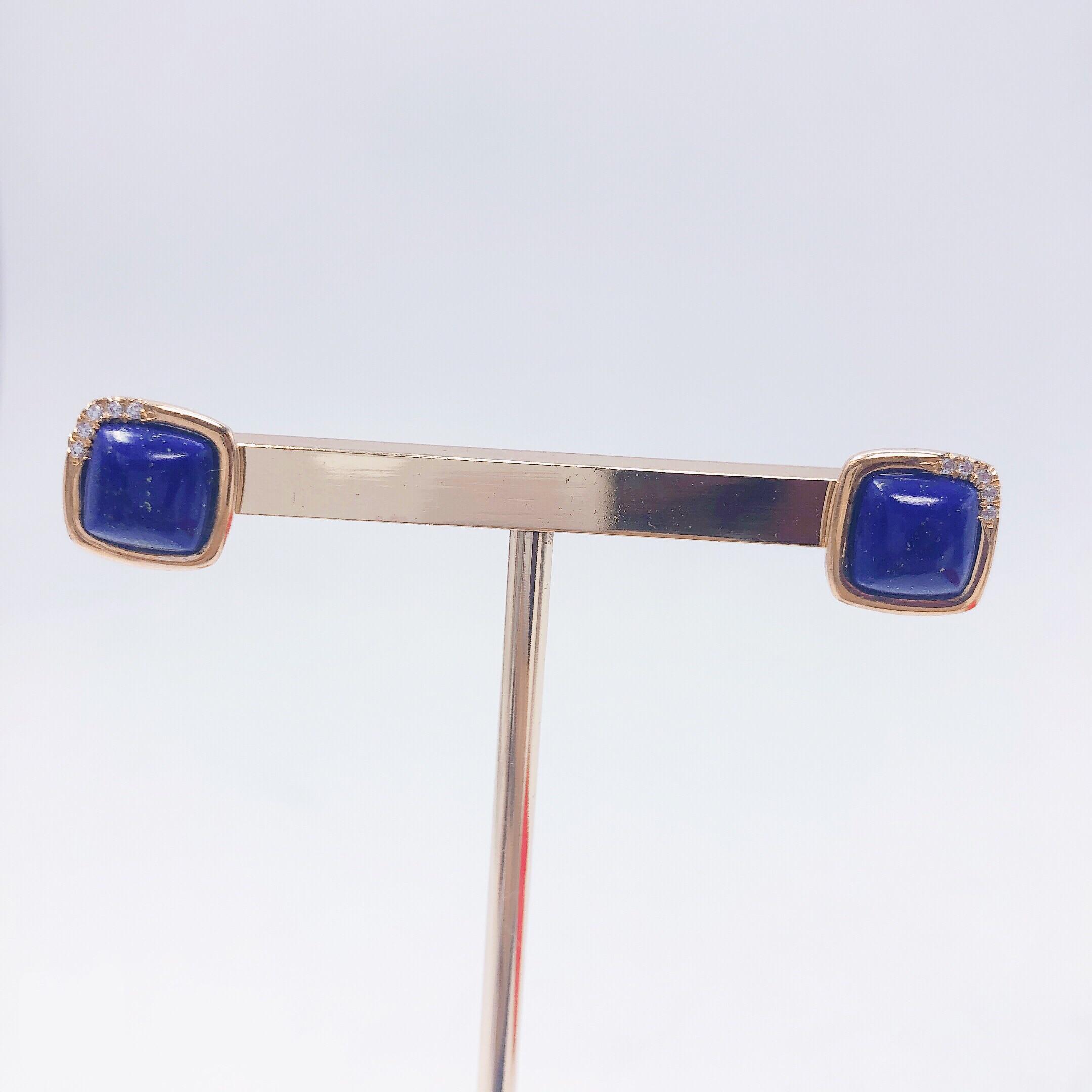 IZODO bijoux boucle d'oreille CZ lapis lazuli 925 argent 2019 nouveau style de mode géométrique