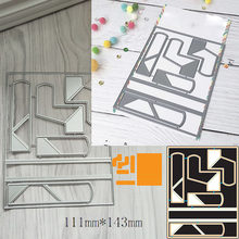 111*142mm abstraction frame Metal Cutting Dies Scrapbooking for DIY Decorations Craft Die Cut Paper Card Make Stencil 2019 New(China)