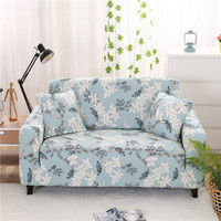 SunnyRain 1 Piece Florals Elastic Sofa Cover Slipcover For Sectional Sofa Three Seat Sofa Cover Couch