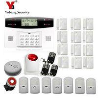 Yobang безопасности Беспроводной сигнализации проводной 7 + Беспроводной 99 зона обороны GSM sim сигнализации с голосовые подсказки Строб Сирена д