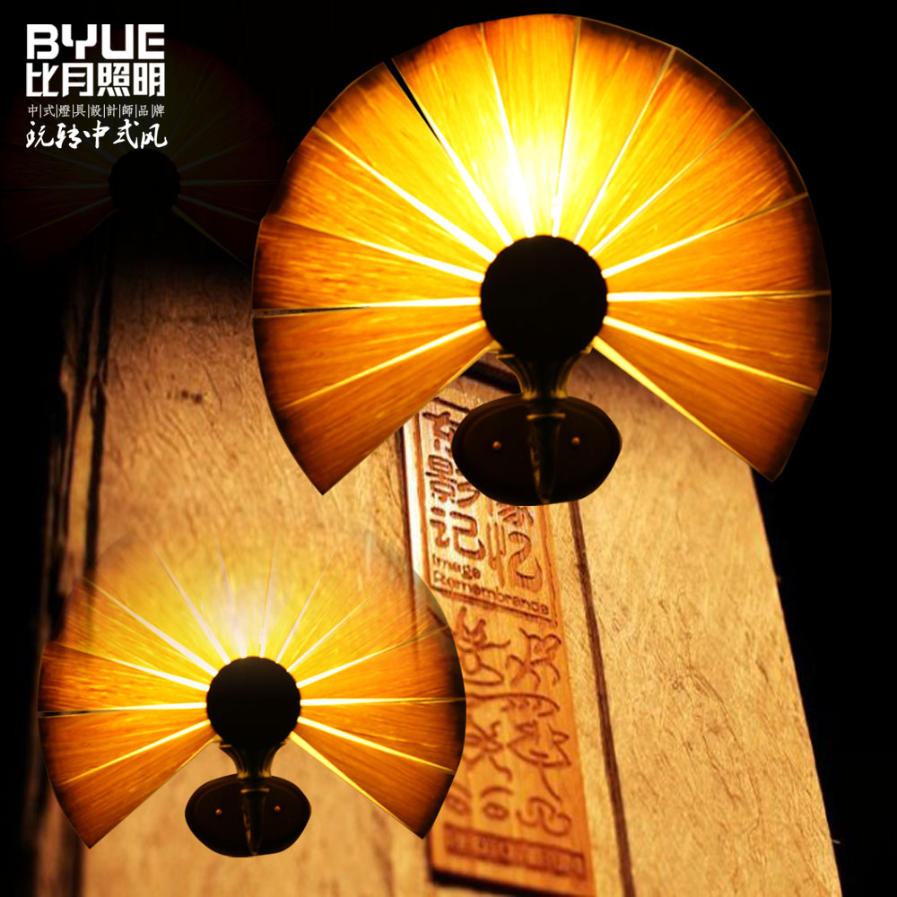 Bamboo Living Room Lights Restaurant Lamp Chinese Style Wooden Lamps Veneer Dining Room Lights Free Shipping new arrival modern chinese style bamboo wool lamps rustic bamboo pendant light 3015 free shipping