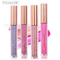 FOCALLURE 6 New Arrival Chameleon Shimmer Lip Gloss Waterproof Matte Lipstick Metal Style Golden Nude Red