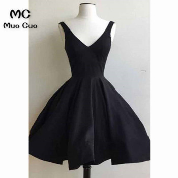 2018 Dark Blue A-Line Homecoming dress Short Tank Deep V-Neck Sleeveless Cocktail party dress short homecoming dress фото