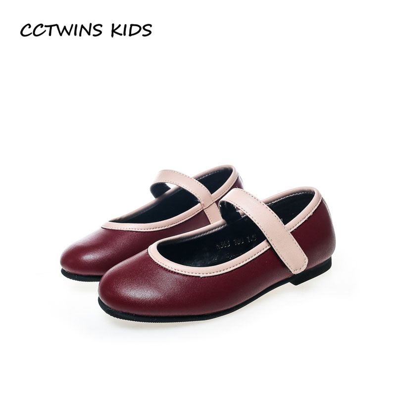CCTWINS KIDS 2018 Autumn Baby Girl Fashion Pu Leather Mary Jane Children Dance Flat Toddler Princess Party Shoe GM2073 wendywu new kids leather shoes baby girls fashion dress mary jane for children pu leahter court shoe kid brand dance heel shoe