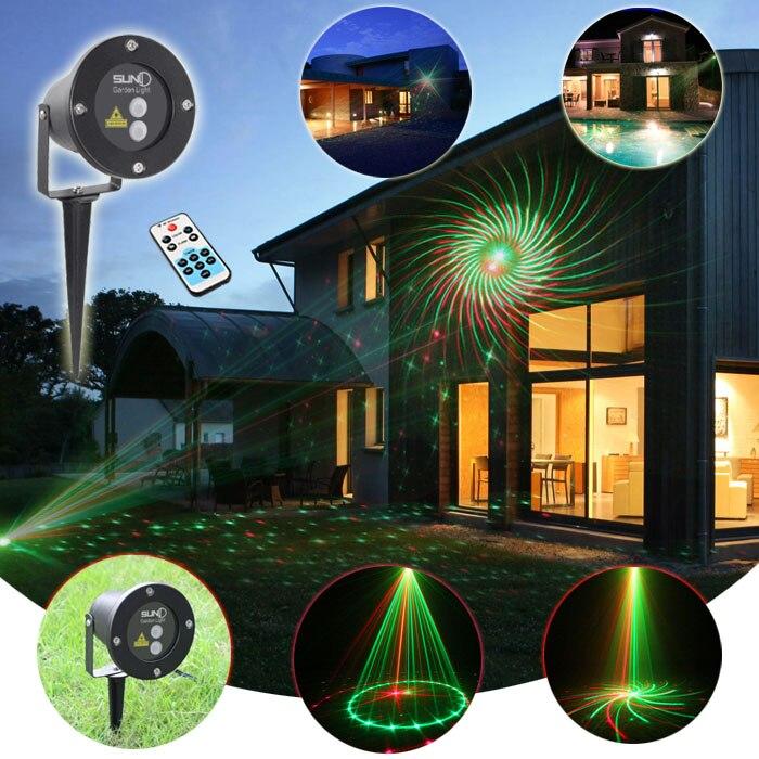 Laser Projector Waterproof Outdoor Led Landscape Lighting Garden Lawn With Remote 12 Patterns RG Stars Lights four translucent d buried lights two 3w9w12w lawn garden waterproof outdoor landscape lighting