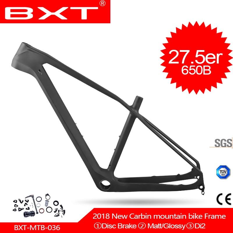 2018 BXT nouveau carbone vtt vtt cadre 27.5er T800 UD pas cher chine carbone vélo cadre de vélo vtt 27.5er vélo cadre en carbone