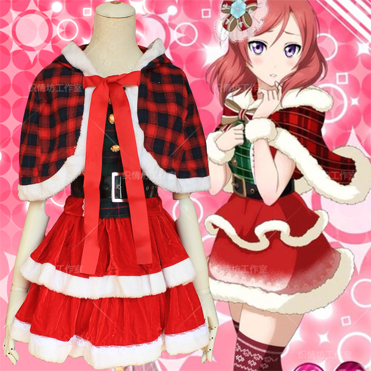 love live Cosplay Halloween Anime Christmas Nishikino Maki set Cartoon Party Female Woman Japanese Christmas Cosplay Costume