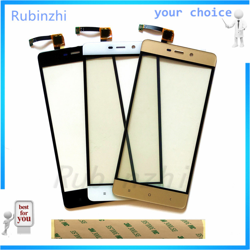 Rubinzhi Mobile Phont Touch Panel For <font><b>Xiaomi</b></font> <font><b>Redmi</b></font> <font><b>4</b></font> <font><b>Pro</b></font> 4Pro Touch screen Digitizer Sensor Front Glass <font><b>Touchscreen</b></font> Free tape image