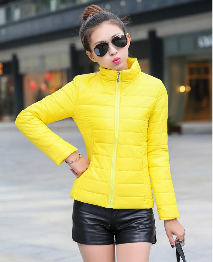Women's   basic     jacket   2018 winter new Slim fashion cotton   jacket   thin ladies cotton clothing winter coat 208133