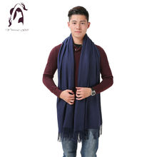 [YWJUNFU] 2016 Winter Cashmere Scarf Brand Men Scarves Wool Warm Shawls Cotton Designer Tassel Women Wraps YJF009