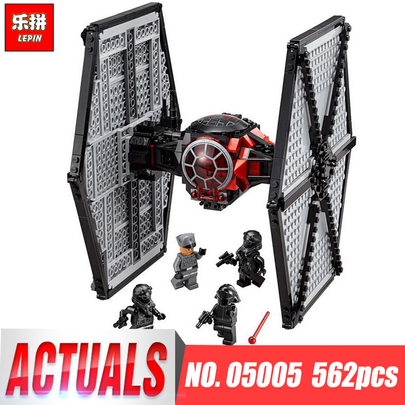 Lepin 05005 Star The First Order Tie Set Fighter legoings 75101 Building Blocks Bricks Wars Educational Boy Toys Christmas Gifts lepin 05127 705pcs star plan series the 75179 tie model fighter set building blocks bricks educational kids toys christmas gifts