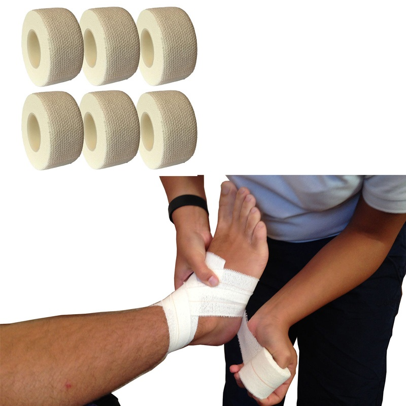 2Pcs/lot 2.5cm*4.5M Medical Non-woven Self-adhesive Bandage Medical Elastic Tape First Aid Wrap Bandages Finger Thumb Home
