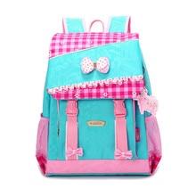 Высокое качество милый школьный рюкзак для девочек студент Синий Розовый плед мешок детей школьные сумки детей Рюкзак Bookbag