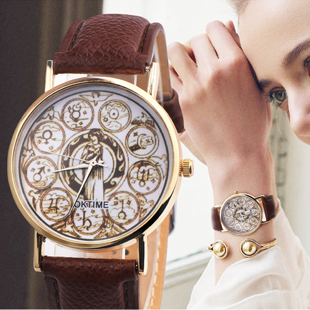 New Watch, 1pc Horoscope, zodiac, signs, leo, virgo, aquarius, pisces, scoripio, libra, cancer, gemini, taurus, mens Women watch