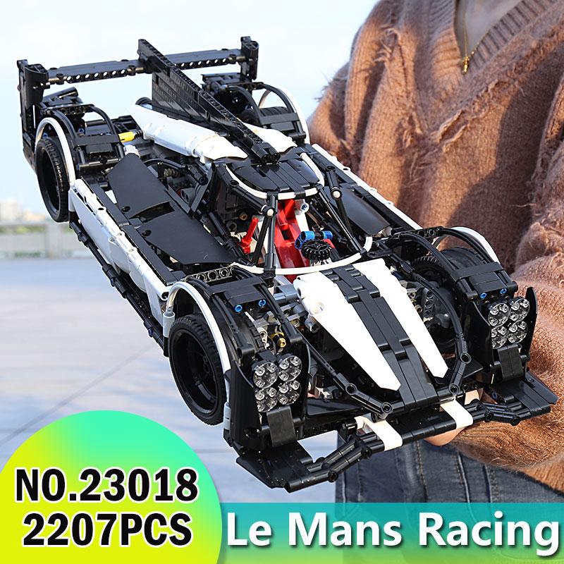 23018 Technic serii MOC hybrydowy Le Mans Super Race Car mistrz Building Blocks ustawia zestawy klocków zabawki kompatybilne z 5530 w Klocki od Zabawki i hobby na  Grupa 1