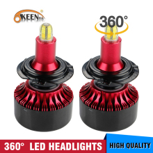 цены OKEEN 2pcs Car 3D Mini Canbus H7 LED Headlight Bulbs H1 H3 H8 9005 9006 Auto Lamp 360 degree LED Headlamp 6000K White Fog Light