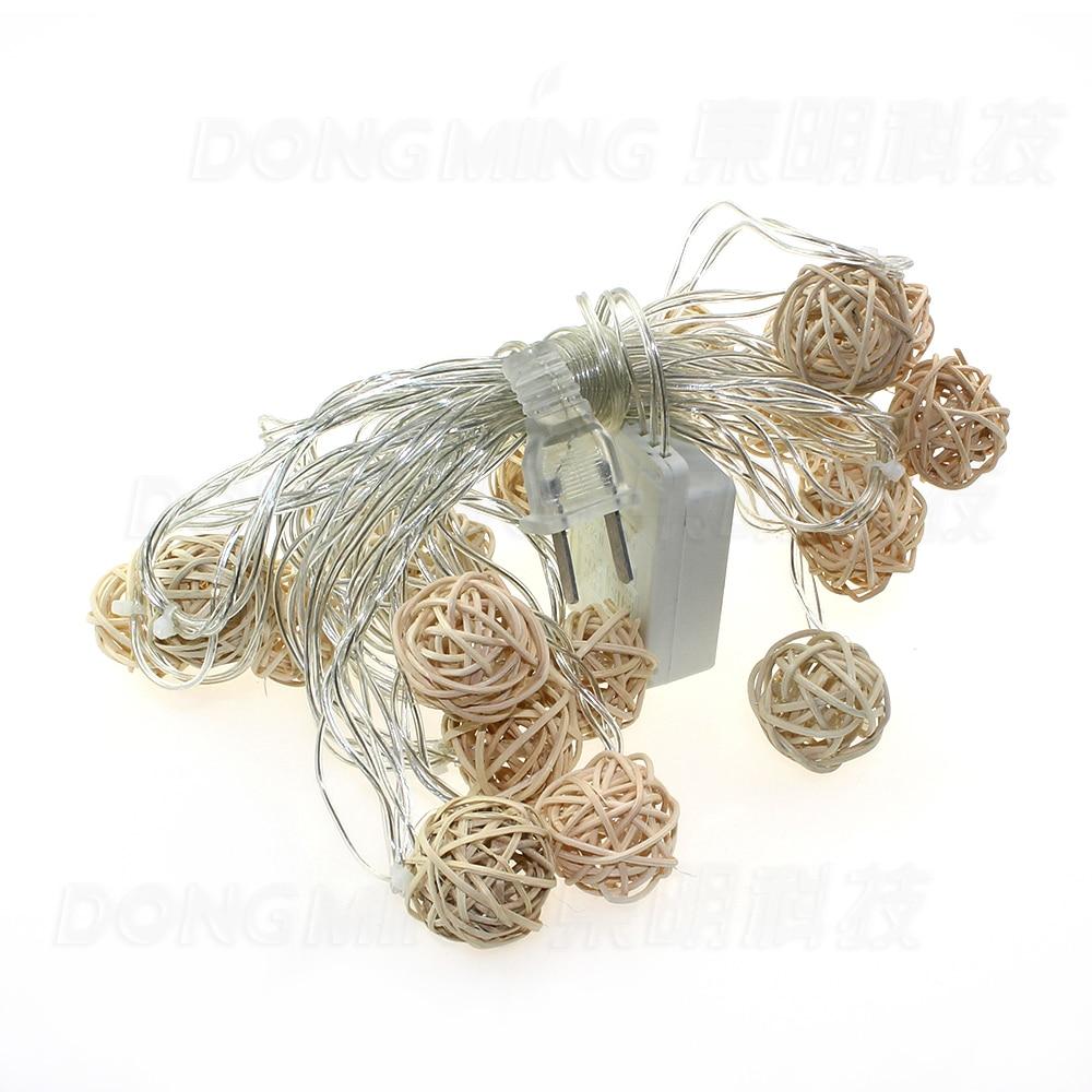 5m 20leds rotting Ball ledet lys lys bryllup hage anheng krans Timbo lampe 110V / 220V LED fe juletre lys