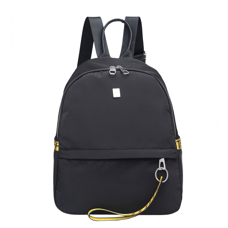 2017 Women Backpack Small Nylon Fashion Black Backpack Ladies Shoulder Back Bag Preppy Style Backpacks for Teenage Girls aequeen womens backpacks nylon backpack shoulder bags fashion ladies small ruck school for girls travelling shopping bag
