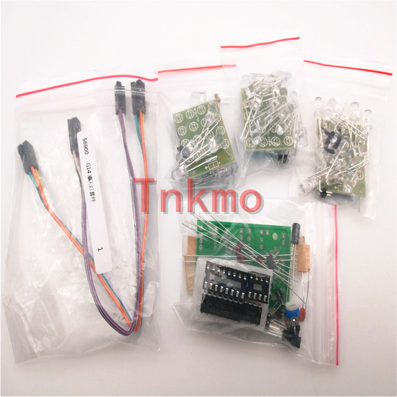 1set CD4017+NE555 Flash Light Explosion-flashing LED Suite Self DIY Electronic Kit DIY KIT for Self-Assembly
