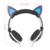 3.5mm Fone de ouvido de Jogos com LED orelhas de gato Headband Dobre Retrátil Fone de ouvido fone de ouvido Melhor presente