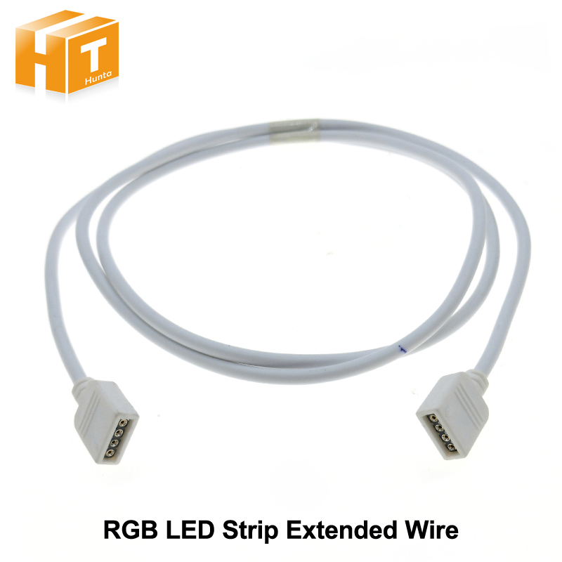 RGB LED Strip 4pin 1meter Extended Wire Connecotor.