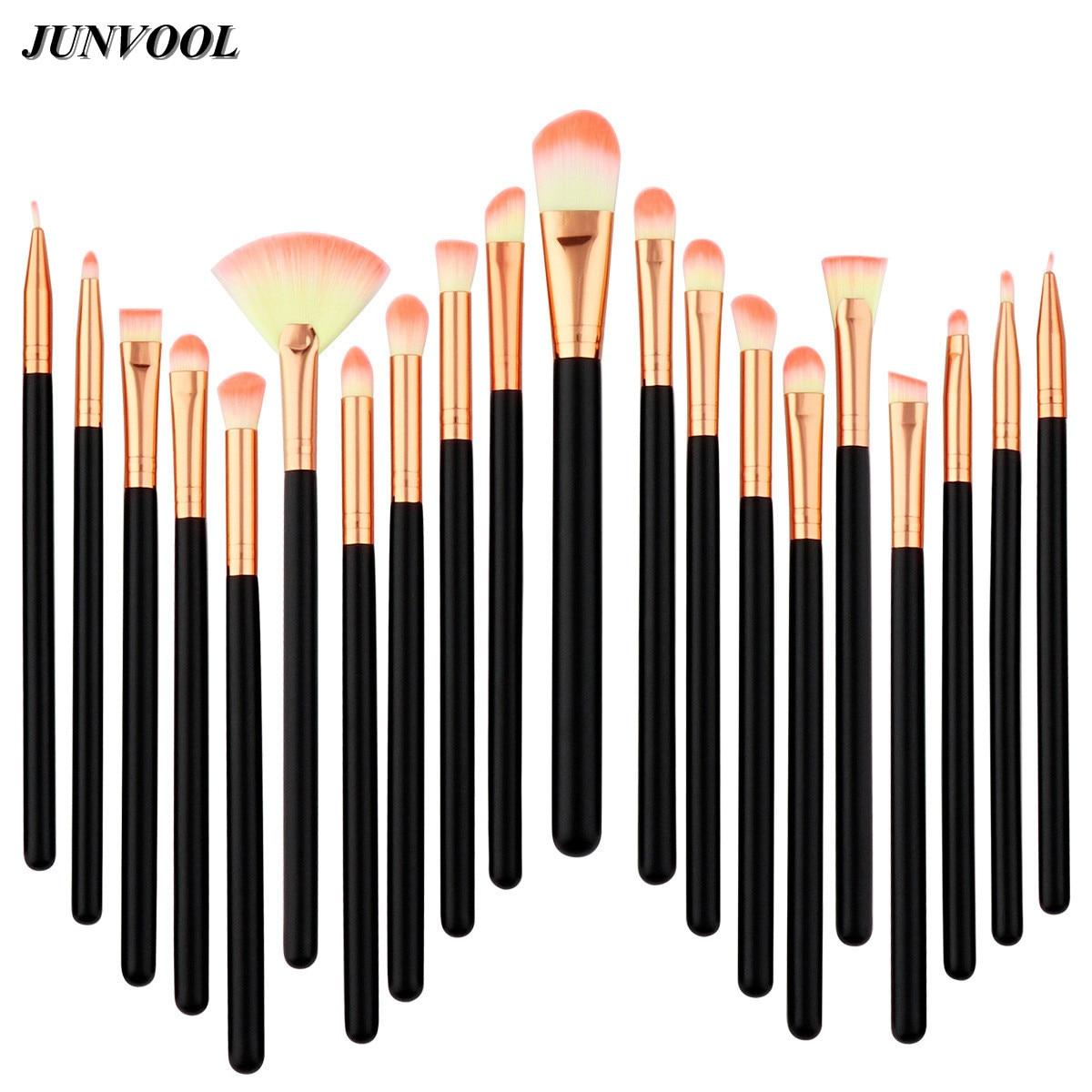 цены на 20pcs A Set of Brushes for Make-up Professional Pink Hair Eye Shadow Foundation Eyebrow Lip Makeup Fan Brush Suit Make Up Tools в интернет-магазинах