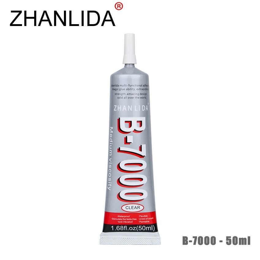 цена на ZHANLIDA B-7000 50ml Transparent Epoxy Resine Adhesive Rhinestones DIY Decoration Cloth Shell Phone Frame B7000 Glue Gun