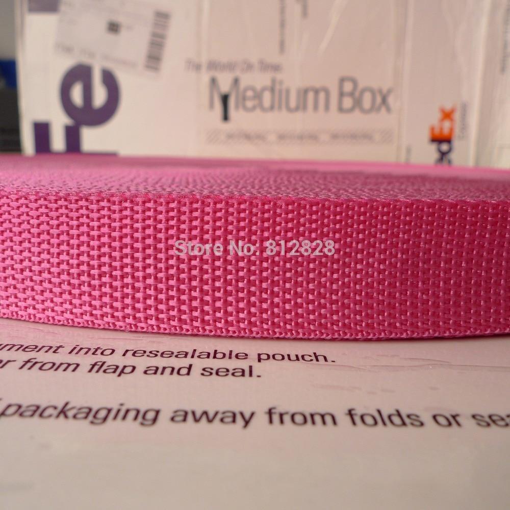 """1 """"25mm #38 Hot różowy kolor Nylon worek polipropylenowy pasy taśmy 100 metrów w Taśma tapicer. od Dom i ogród na AliExpress - 11.11_Double 11Singles' Day 1"""
