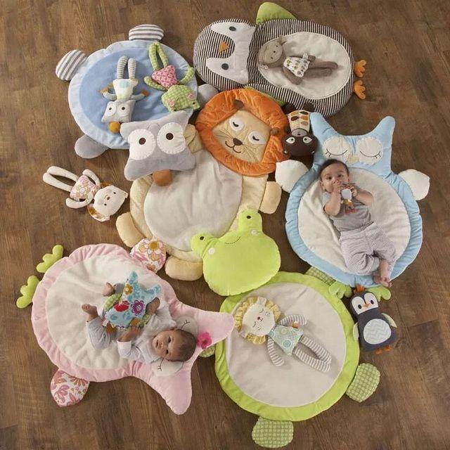 Bebé lindo de la historieta cojín suave colchón pad gatear bebé muselina swaddle recién nacido accesorios de fotografía manta del lecho del bebé alfombra de juego