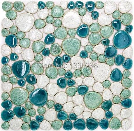 Vert de galets carreaux de c ramique pour salle de bains for Carreaux ceramique salle de bain