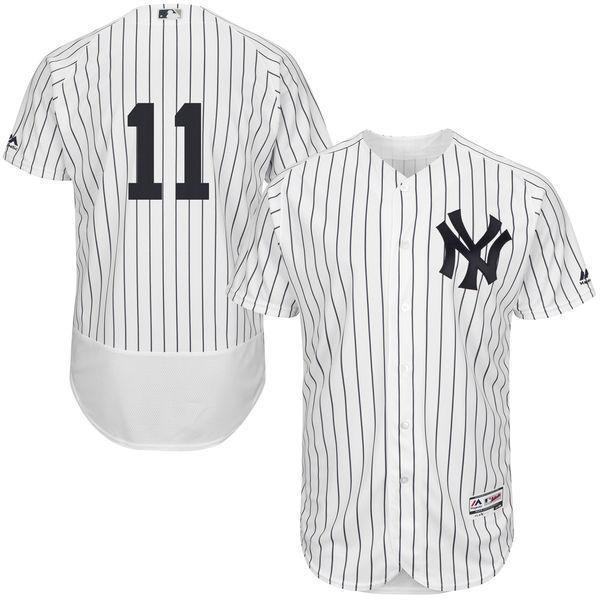 MLB Для мужчин Нью-Йорк Янкиз Бретт Гарднер Бейсбол Главная Белый/темно-Flex База Аутентичные Коллекция игрока Джерси