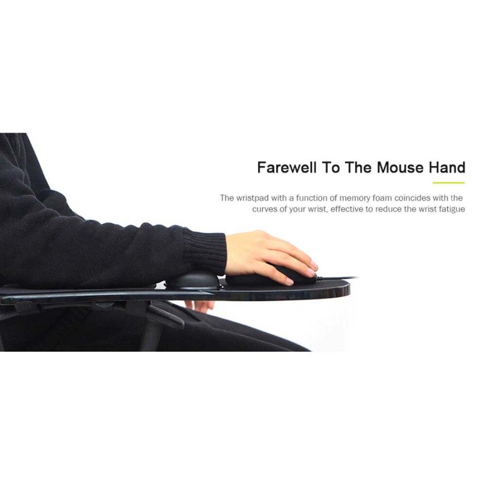 Tapis de souris amovible avec repose-poignet ordinateur bureau tapis de souris avec Support de poignet Gel pour ordinateur tapis de souris de jeu avec accoudoir - 6