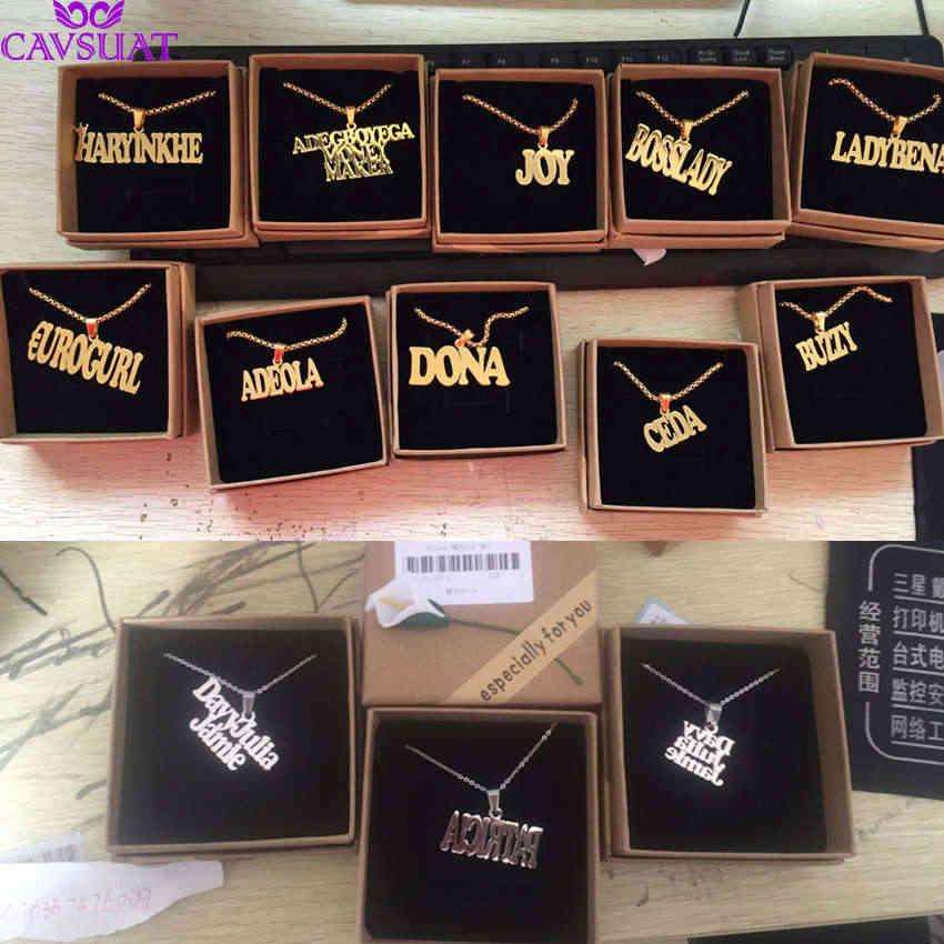 Punk Style indywidualny naszyjnik z imieniem dostosowany duży tabliczka znamionowa wisiorek kobiety mężczyźni biżuteria ręcznie robiony prezent urodzinowy BFF