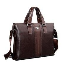 Luxury Brand Handbags Genuine Leather Bags for Men Famous Briefcases Cowhide Shoulder Bags Men's Leather Laptop Bag Briefcase