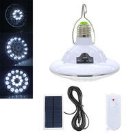 Super Bright LED Solar Power Energy Light Bulb Rechargeable Remote Emergency Security Lamp Home Outdoor LED