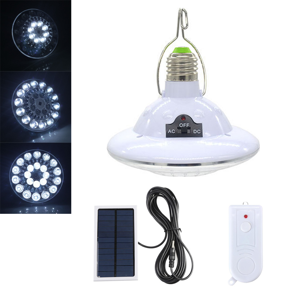 LED Solar Power Light Bulb Waterproof Portable Emergency Security Lamp Home Outdoor LED Camping Tent Lantern with Remote Control outdoor camping light camping lamp night market stall tent lamp home emergency lamp charging led lamp mobile power function