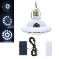 LED de Energia Solar Lâmpada de Luz de Emergência Lâmpada De Segurança Em Casa Ao Ar Livre Portátil À Prova D' Água LED Barraca de Camping Lanterna com Controle Remoto