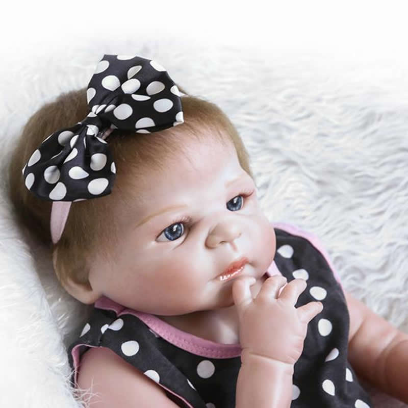 23 Inch Reborn Babies Doll Full Silicone Vinyl Alive Baby Dolls Realistic Princess Girl With Hair Kid Best Birthday Xmas Gift new arrival 23 inch lifelike reborn girl baby doll full silicone vinyl realistic princess dolls kids birthday christmas gift