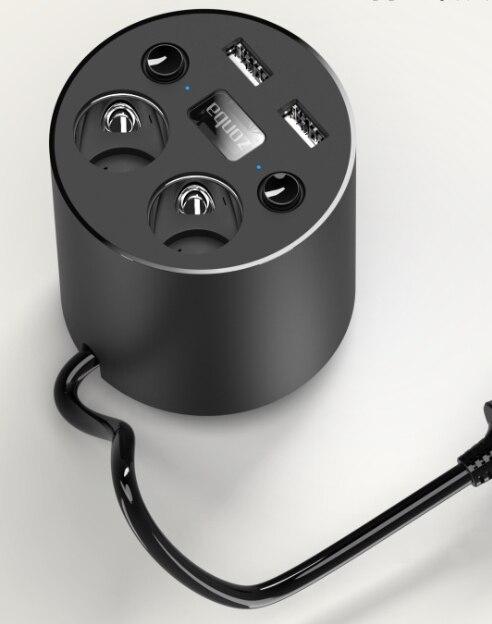 Taza coche Dual USB cargador de coche taza de energía de múltiples funciones del cargador (versión simplificada)