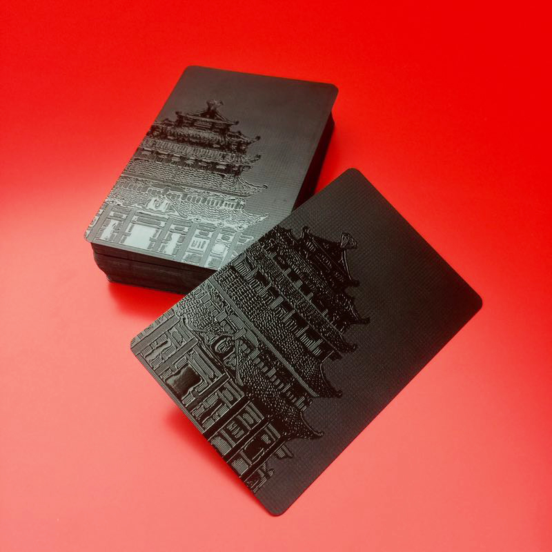 Waterproof Black Plastic 3D Embossing Poker Cards PET Material ...