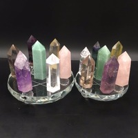 new product 7 star healing wand points quartz crystals stones wand points obelisk home decor fengshui crafts for healing gifts
