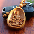 New Key Chains Bodhisattva Keychain Bead Key Ring Wood Shape Keychain Gift For Women And Men