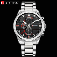 CURREN Classic Stainless Steel Strap Watches Men Military An