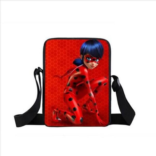 Anime Miraculous Ladybug Shoulder Bag Cat Noir Adrien Marinette Boys Girls Mini Messenger Bags Children School Bags Kid Gift Bag цена 2016