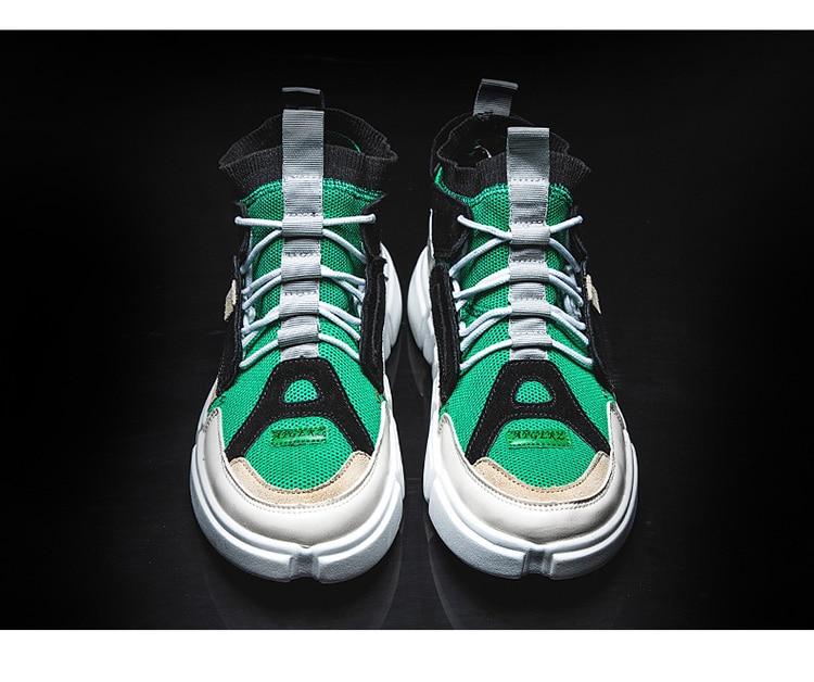 b72814b9b Brand Retro High Top Men Mixed Colors Designer Shoes Men S Casual ...