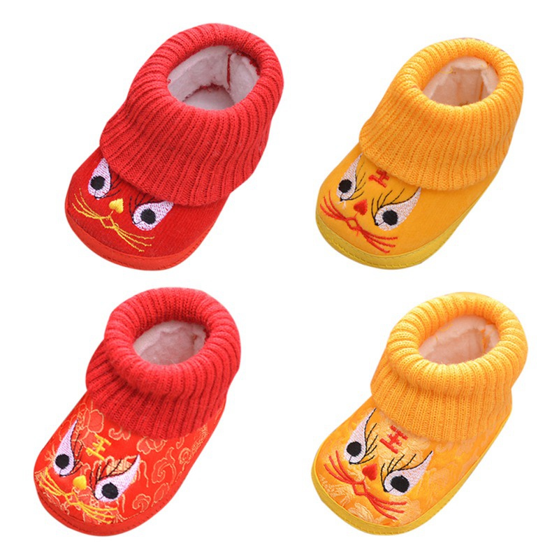 New Baby Shoes Sneakers Toddler Boy Breathable Winter Cartoon Soft Embroidery Soled Casual