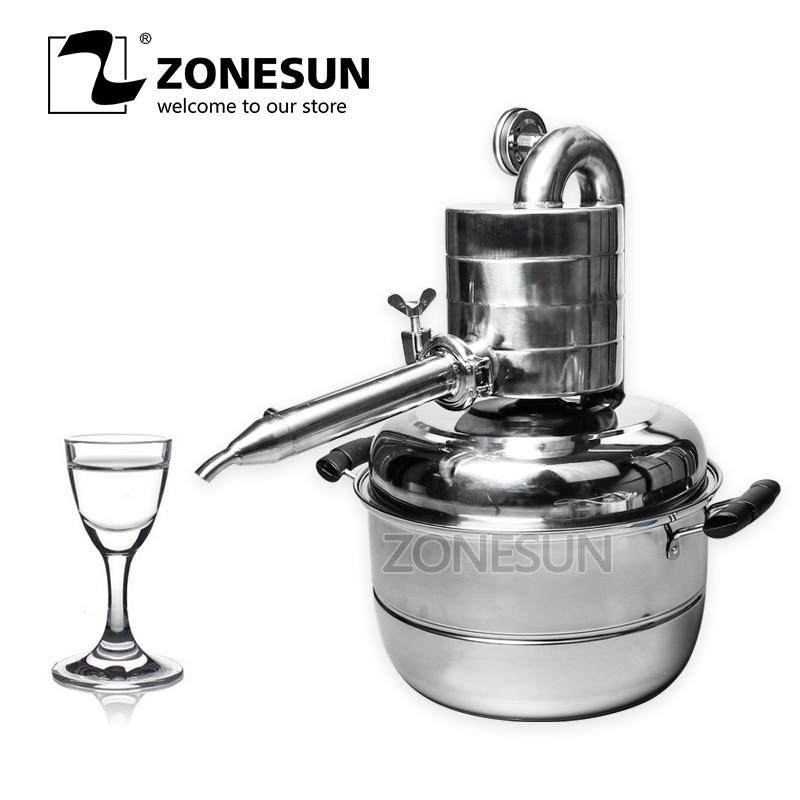 ZONESUN Essential Oil Distiller Machine Essential Distilled Water Machine Pure Dew Distilled Household Laboratory small bottle filling machine