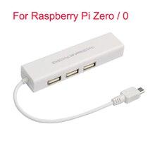 Raspberry Pi zero Micro USB to RJ45 Ethernet LAN Adapter With 3 Port OTG USB Hub Converter 10/100MB OTG Cable For Raspberry Pi 0